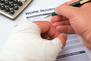 filling up a work injury claim form contractor insurance